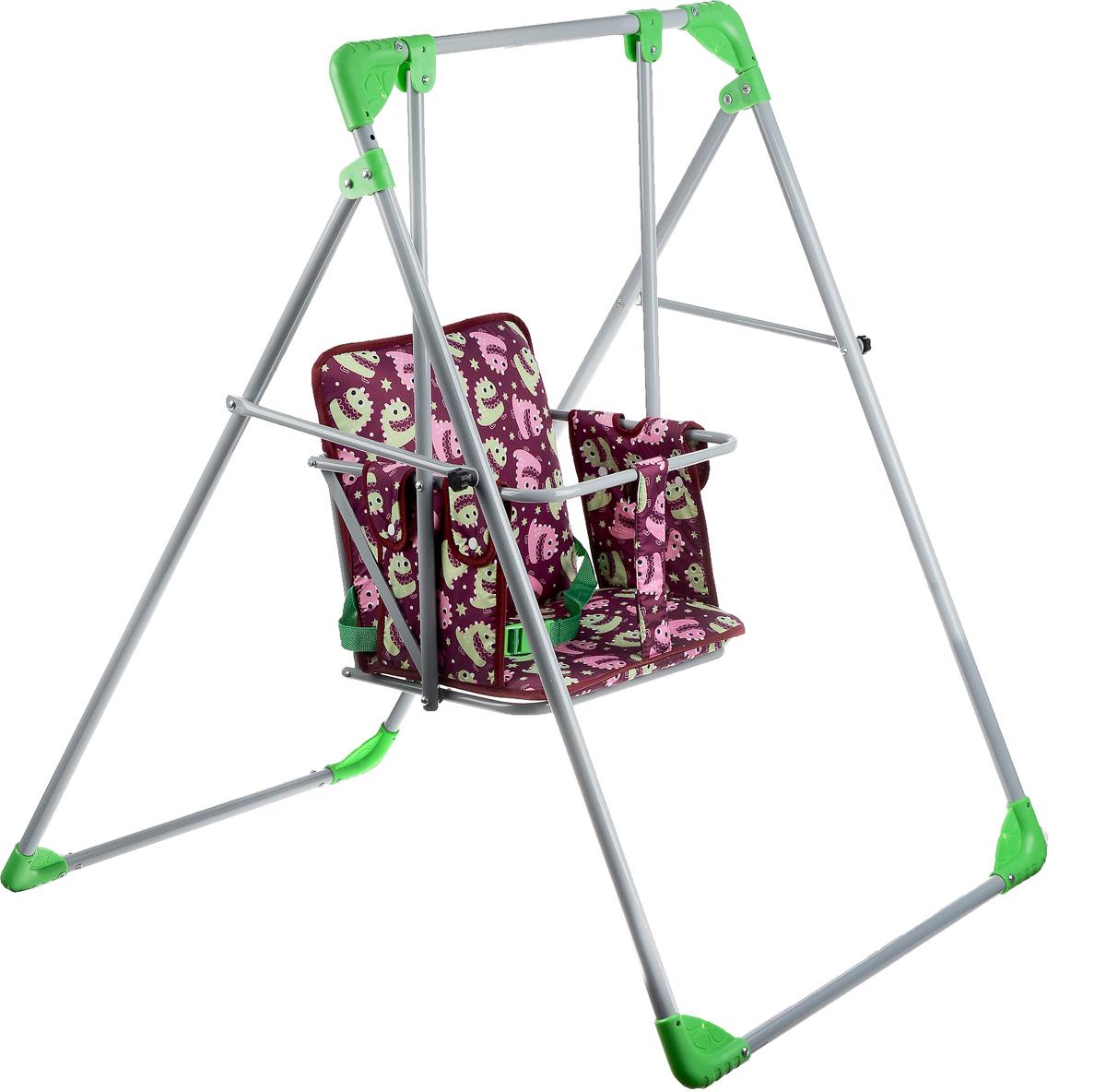 Фея Качели Чарли цвет бордовый зеленый - Ходунки, прыгунки, качалки