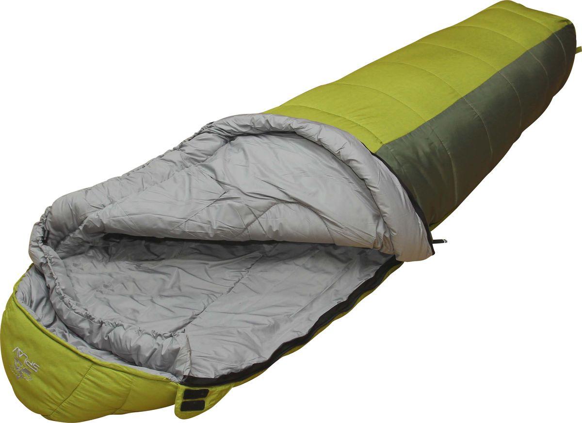 Спальный мешок Сплав Sherpa 400, правосторонняя молния, цвет: зеленый спальный мешок woodland berloga 400 r правосторонняя молния цвет хаки