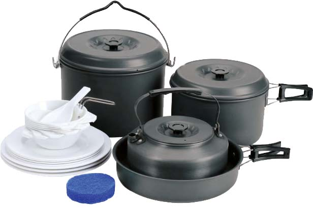 Набор посуды Сплав, 24 предмета5108713Набор посуды Сплав отлично подойдет для приготовления пищи в походе на 6-7 человек. Набор компактно складывается и не занимает много места. Изделия легко моются, а твердый защитный слой, полученный при анодировании, защищает поверхность от коррозии и царапин. Чайник, кастрюли и сковородка изготовлены из анодированного алюминия. Специальные крышки на чайнике и кастрюлях ускоряют процесс приготовления пищи и предохраняют ее от насекомых и мелкого мусора. Ручки складываются, позволяя компактно упаковывать посуду. Складной половник и ложка-лопатка, изготовлены из качественного полипропилена. Для сервировки стола предлагаются 7 плоских и 7 глубоких тарелок из полипропилена. А специальная губка позволит вам легко отмыть посуду даже в ледяной воде горных речек.Состав набора:Чайник с крышкой: диаметр: 175 мм, высота: 75 мм, объем: 1600 мл, вес чайника: 168 г, вес крышки: 45 г.Кастрюля с крышкой и складной ручкой: диаметр: 182 мм, высота: 110 мм, объем: 2500 мл, вес кастрюли: 251 г, вес крышки: 94 г.Кастрюля с крышкой и складной ручкой: диаметр: 208 мм, высота: 138 мм, объем: 4000 мл, вес кастрюли: 396 г, вес крышки 123 г.Сковородка со складной ручкой: диаметр: 215 мм, высота: 52 мм, объем: 1000 мл, вес: 284 г.Глубокая тарелка, 7 шт: диаметр: 113 мм, высота: 40 мм, вес: 22 г.Плоская тарелка, 4 шт: диаметр: 180 мм, высота: 20 мм, вес: 41 г.Плоская тарелка большая, 3 шт: диаметр: 200 мм, высота: 23 мм, вес: 60 г.Складной половник, 1 шт: 80 х 50 мм, вес: 22 г.Ложка-лопатка, 1 шт: 130 х 55 мм, вес: 13 г.Губка, 1 шт: диаметр: 80 мм, высота: 25 мм, вес: 5 г.Количество предметов: 24 шт.Общий вес: 1990 г.