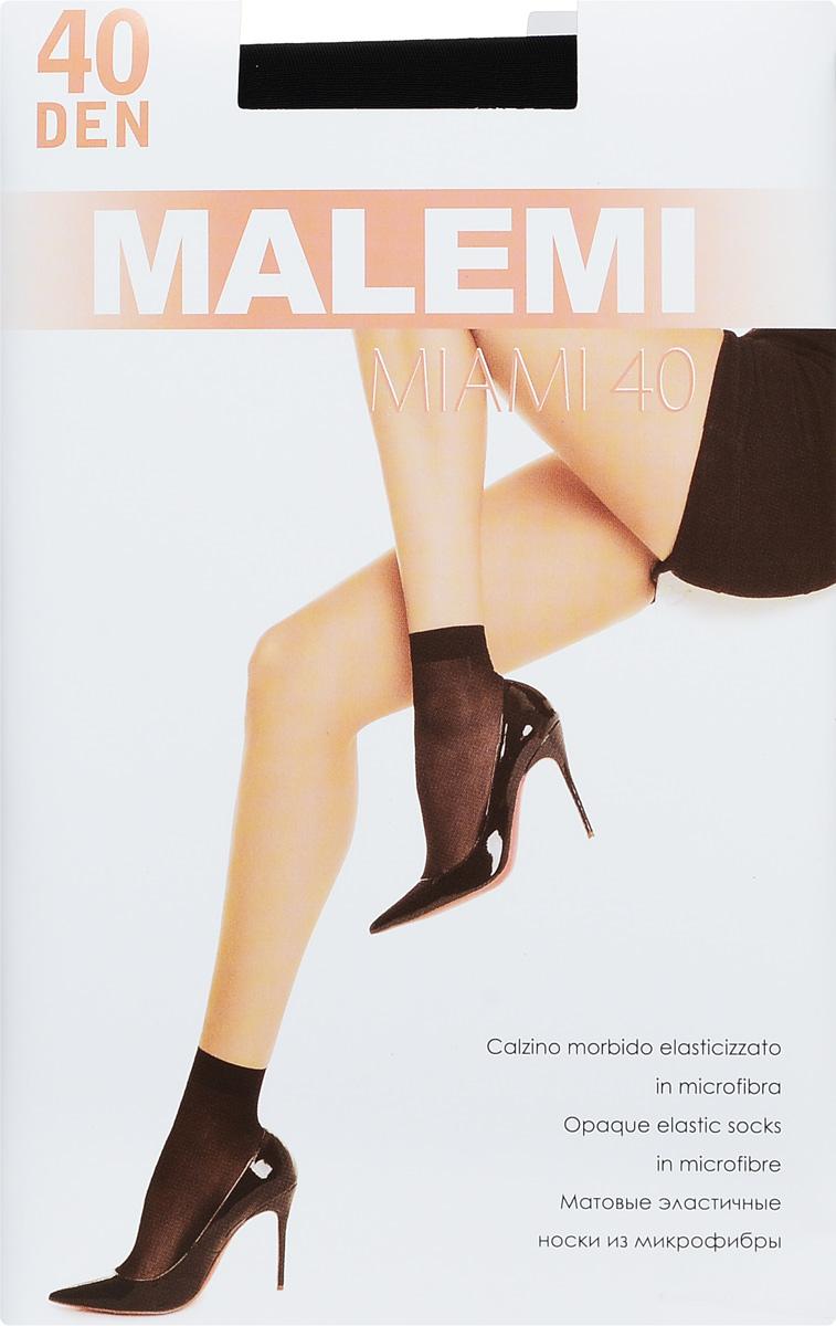 Носки женские Malemi Miami 40, цвет: Nero (черный), 2 пары. 9065. Размер универсальный гольфы женские malemi soft 40 цвет nero черный 9067 размер универсальный