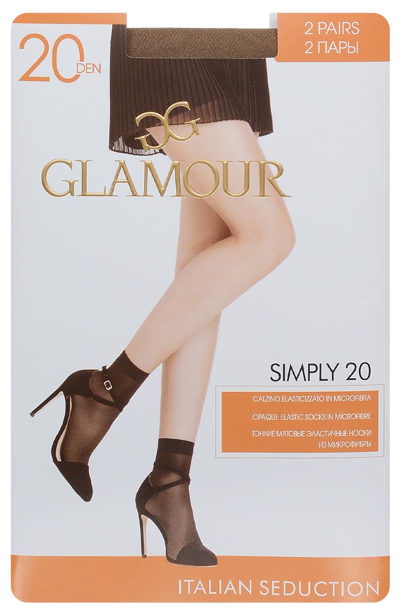 Носки женские Glamour Simply 20, цвет: Daino (загар), 2 пары. 25825. Размер универсальный25825Удобные женские носки Glamour Simply 20, изготовленные из высококачественного эластичного полиамида, идеально подойдут для повседневной носки. Входящий в состав материала полиамид обеспечивает износостойкость, а эластан позволяет носочкам легко тянуться, что делает их комфортными в носке.Эластичная резинка плотно облегает ногу, не сдавливая ее, обеспечивая комфорт и удобство и не препятствуя кровообращению. Практичные и комфортные носки с укрепленным мыском великолепно подойдут к любой открытой обуви. В комплект входят 2 пары носков.