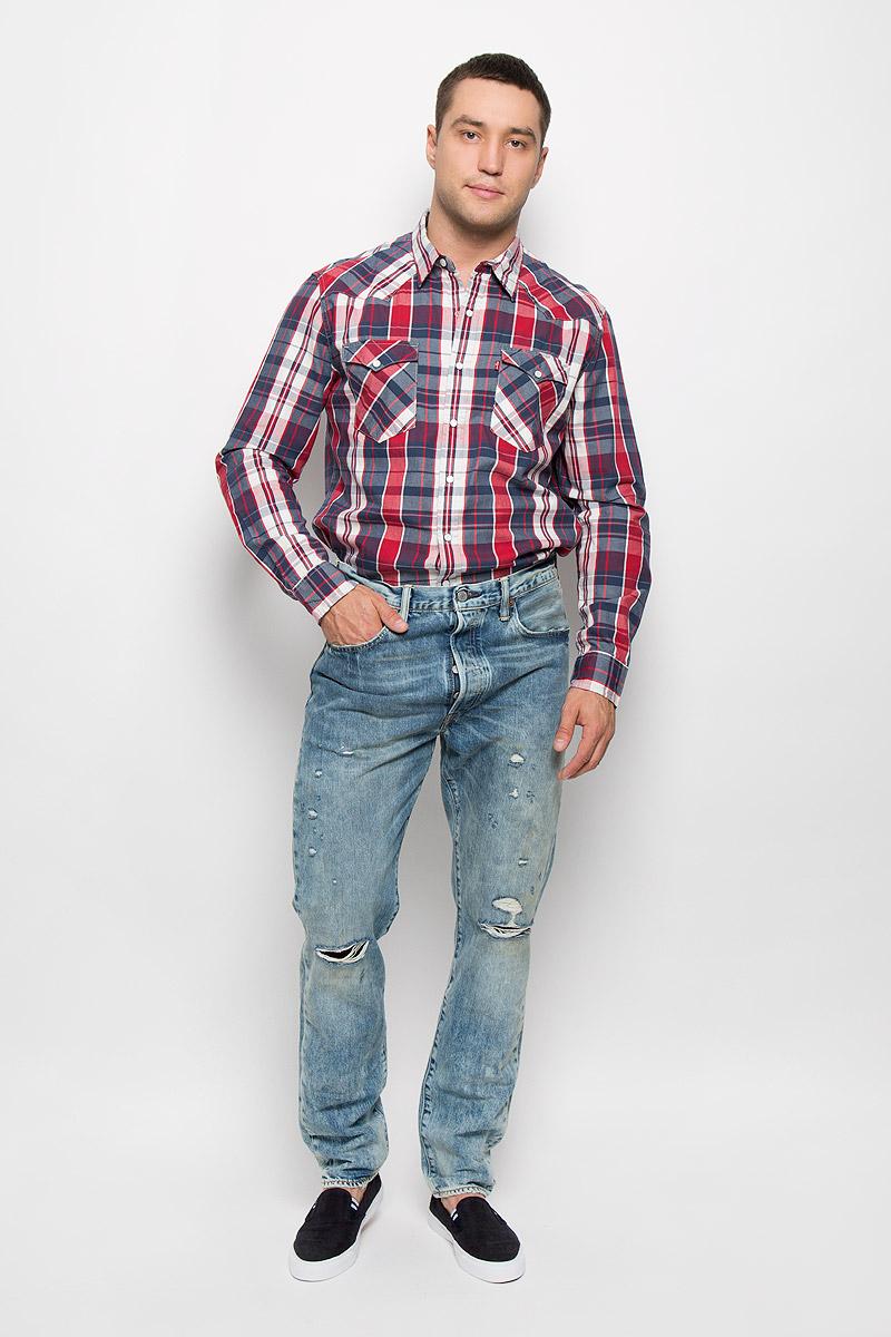 Джинсы мужские Levi's® 501 CT, цвет: голубой. 1817300430. Размер 34-32 (50-32) купить джинсы levis 501 мужские купить