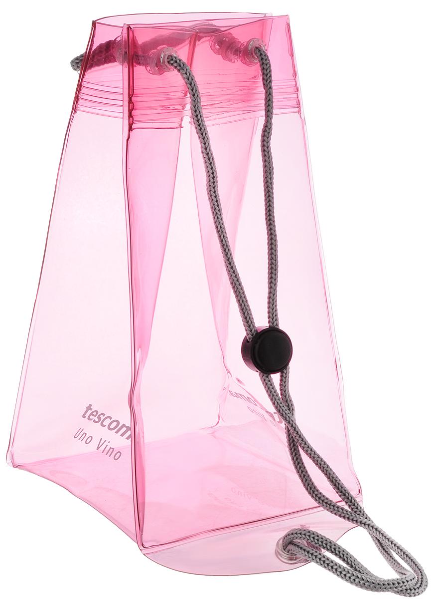 Сумка-термос Тescoma Uno Vino, цвет: розовый, прозрачный, 12,5 х 12,5 х 23 см695472_розовый, прозрачныйСумка-термос Тescoma Uno Vino выполнена из высококачественного прочного пластика. Отлично подходит для быстрого охлаждения белого и розового вина, а также шампанского. Идеально сохраняет температуру. Снабжена текстильной ручкой для полотенца и для аккуратного использования. Нельзя мыть в посудомоечной машине.
