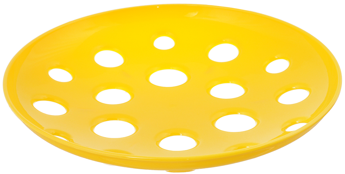 Миска широкая Tescoma Vitamino, цвет: желтый, диаметр 31 см642784_желтыйШирокая миска Tescoma Vitamino изготовлена из прочного пластика. Она прекрасно подходит для хранения свежих овощей и фруктов - яблок, груш, бананов, цитрусовых, ананасов, а также перца, помидор и других. Изделие имеет большие отверстия для максимального доступа воздуха к хранимым продуктам, которые дозревают естественным путем и дольше остаются свежими. Подходит для ополаскивания под проточной водой. Можно использовать в холодильнике и мыть в посудомоечной машине. Диаметр (по верхнему краю): 31 см.