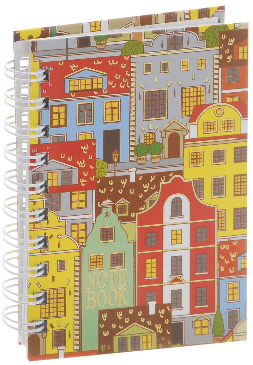 Listoff Тетрадь Голландские домики 100 листов в клетку формат А6ТСФЛ61004288Тетрадь Listoff Голландские домики подойдет как школьнику, так и взрослому человеку. Обложка тетради оформлена оригинальным орнаментным рисунком с яркими городскими домами. Твердая обложка тетради придает ей прочность и долговечность. Тетрадь формата А6 удобно носить с собой даже в небольшой сумке.Внутренний блок тетради состоит из 100 листов белой бумаги с линовкой в мелкую клетку. Листы тетради соединены металлической спиралью, благодаря чему можно быстро и удобно перелистывать страницы.