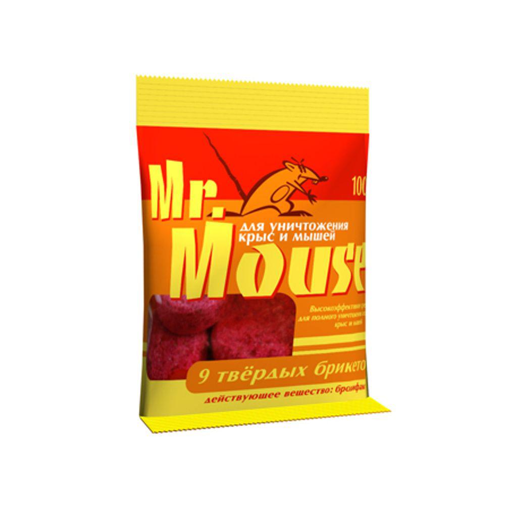 Парафин брикет от грызунов Mr.Mouse, 100 гСЗ.040004Твердый парафин брикет от грызунов Mr.Mouse, предназначен для уничтожения крыс и мышей. Способы применения: поместить брикет целиком или, разломав на части, в емкости для раскладки, или на подложке по 1 брикету от мышей и по 1-3 брикета от крыс поблизости от их нор, на путях перемещения, вдоль стен и перегородок. Расстояние между точками раскладки 2-10 метров в зависимости от захламленности помещений и численности грызунов. Осмотр проводят через 1-2 дня, а затем с интервалом в одну неделю, восполняя по мере поедания. Загрязненную приманку следует заменить на новую. Нетронутые брикеты можно перенести в другое место. Работу проводят до исчезновения грызунов.Действующие вещество: брoдифакум - 0,005%