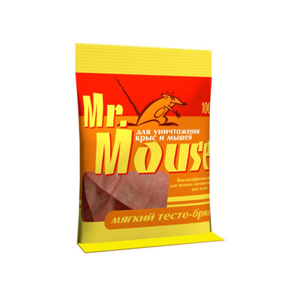 Тесто-брикет от грызунов Mr.Mouse, 100 гСЗ.040005Мягкий тесто-брикет Mr.Mouse, предназначен для уничтожения крыс и мышей.Способы применения: поместить брикет целиком или, разломав на части по 1 брикету от мышей и по 1-3 брикета от крыс поблизости от их нор, на путях перемещения, вдоль стен и перегородок. Расстояние между точками раскладки 2-10 метров в зависимости от захламленности помещений и численности грызунов. Осмотр проводят через 1-2 дня, а затем с интервалом в одну неделю, восполняя по мере поедания. Загрязненную приманку следует заменить на новую. Нетронутые брикеты можно перенести в другое место. Работу проводят до исчезновения грызунов. Действующие вещество: брoдифакум - 0,005%