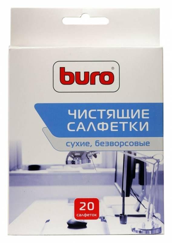 Салфетки для удаления пыли Buro BU-Udry, 20 штBU-UDRYУниверсальные сухие чистящие салфетки из безворсового материала для удаления пыли. Предназначены для очистки любых поверхностей из пластика и металла, а также оптического оборудования.