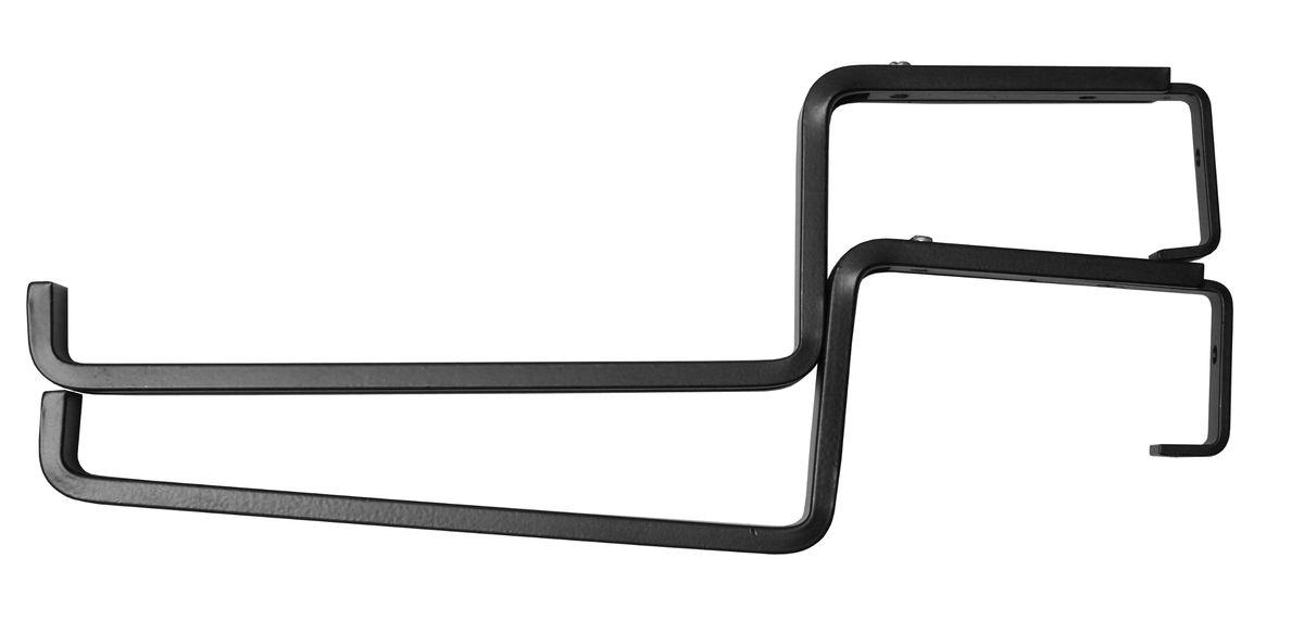 """Кронштейн """"Masterprof"""", выполненный из металла, предназначен для крепления к  перилам и балконам. Регулируемый захват перил: 9,5-15 см.  Глубина основания ящика до 19 см. Длина ящика: 46-91 см. Максимальная нагрузка на два кронштейна 8 кг."""