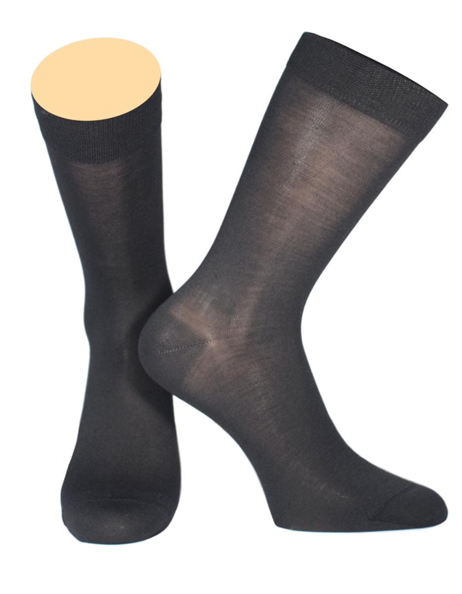 Носки мужские Collonil, цвет: черный. 154/01. Размер 42-43154/01Мужские носки Collonil изготовлены из шелка и кашемира.Носки с удлиненным паголенком. Широкая резинка не сдавливает и комфортно облегает ногу.