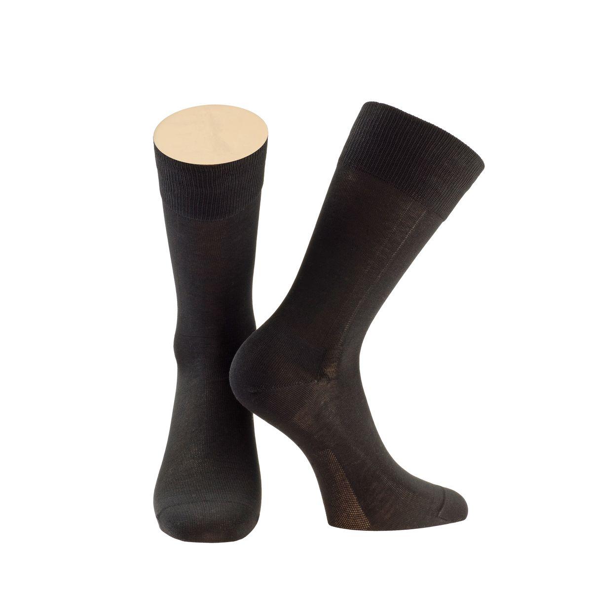 Носки мужские Collonil, цвет: черный. 2-14/01. Размер 39-412-14/01Мужские носки Collonil изготовлены из мерсеризованного хлопка.Носки с удлиненным паголенком. Широкая резинка не сдавливает и комфортно облегает ногу.