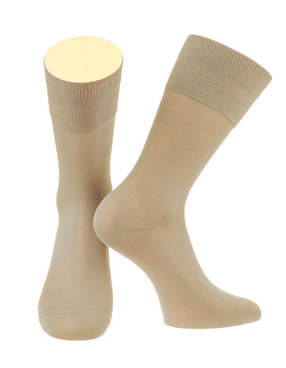 Носки мужские Collonil, цвет: бежевый. 2-15/44. Размер 42-432-15/44Мужские особо тонкие носки Collonil изготовлены из мерсеризованного хлопка с добавлением тактеля.Носки с удлиненным паголенком. Широкая резинка не сдавливает и комфортно облегает ногу.
