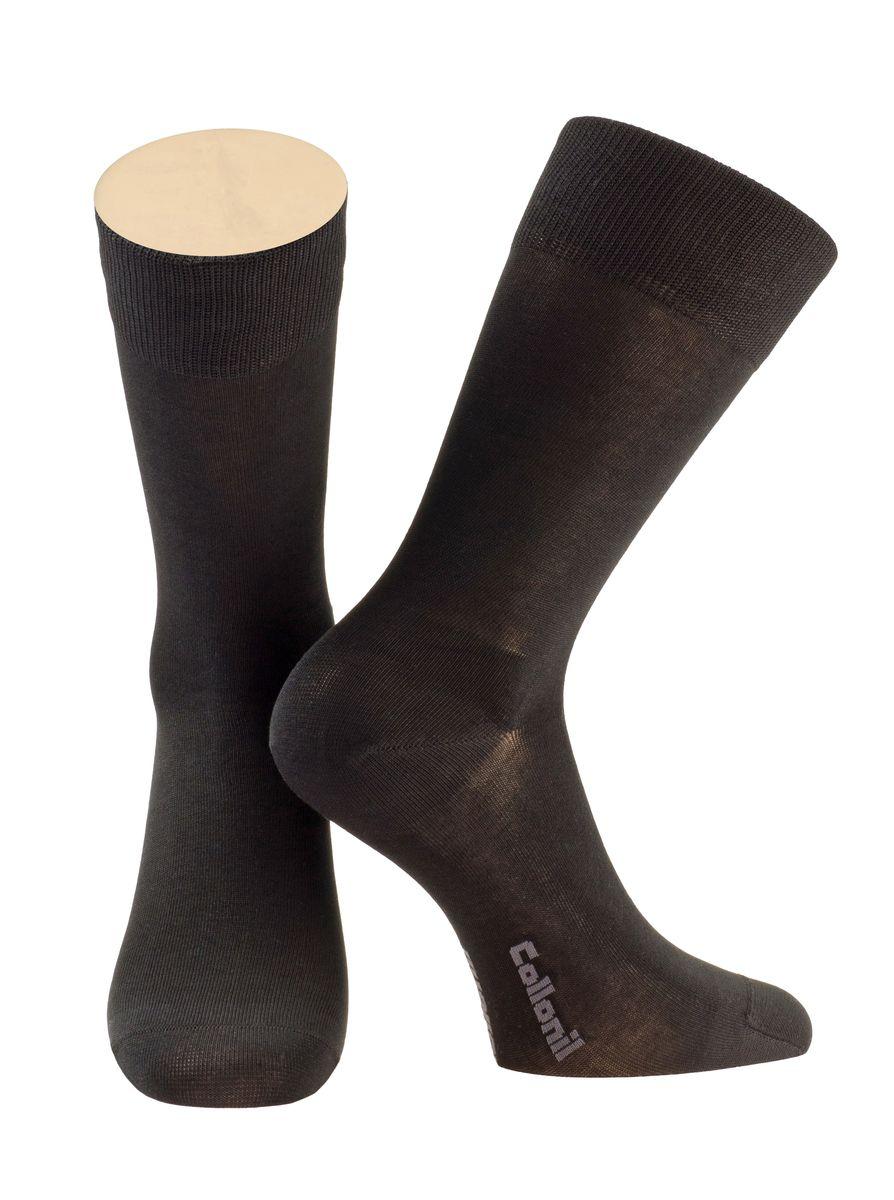 Носки мужские Collonil, цвет: черный. 2-17/01. Размер 42-432-17/01Мужские носки Collonil изготовлены из качественного материала.Носки с удлиненным паголенком. Широкая резинка не сдавливает и комфортно облегает ногу.