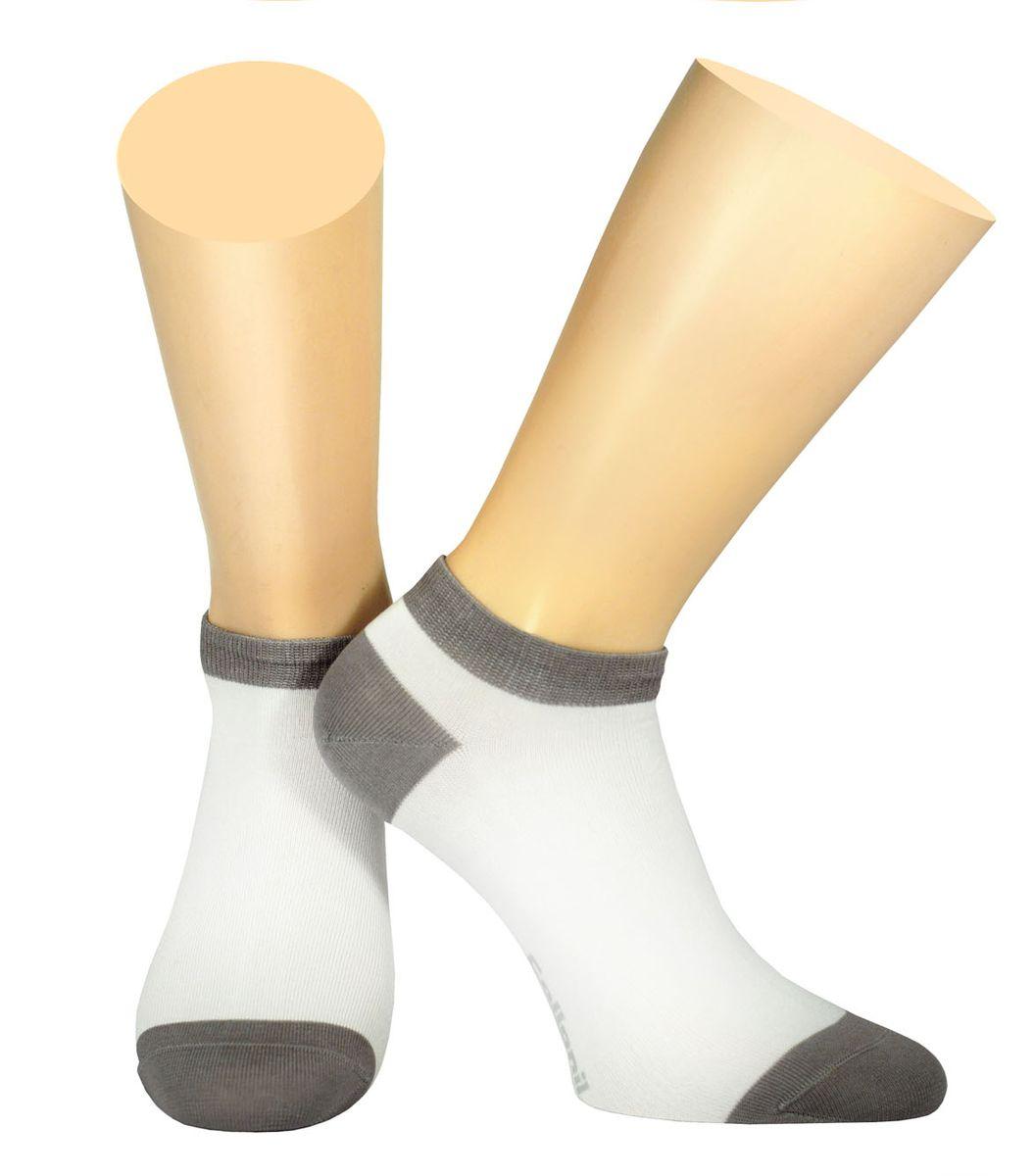 Носки мужские Collonil, цвет: белый, серый. 2-18/27. Размер 39-412-18/27Мужские носки Collonil изготовлены из эластичного мерсеризованного хлопка с добавлением полиамида.Носки с укороченным паголенком. Широкая резинка не сдавливает и комфортно облегает ногу.