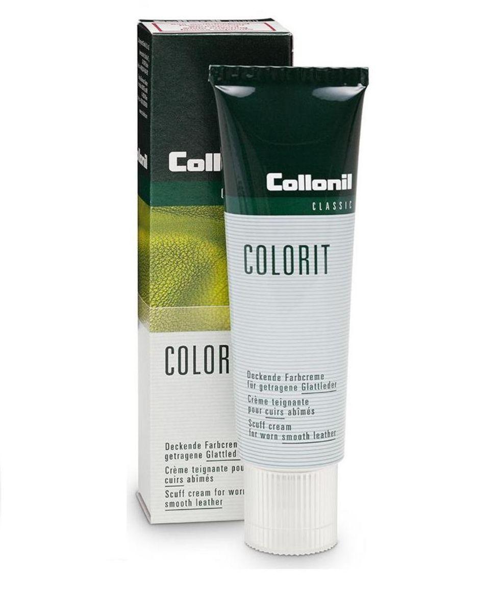 Крем для обуви Collonil Colorit Tube, снего-водоотталкивающий, цвет: темно-коричневый, 50 мл collonil waterstop tube brown