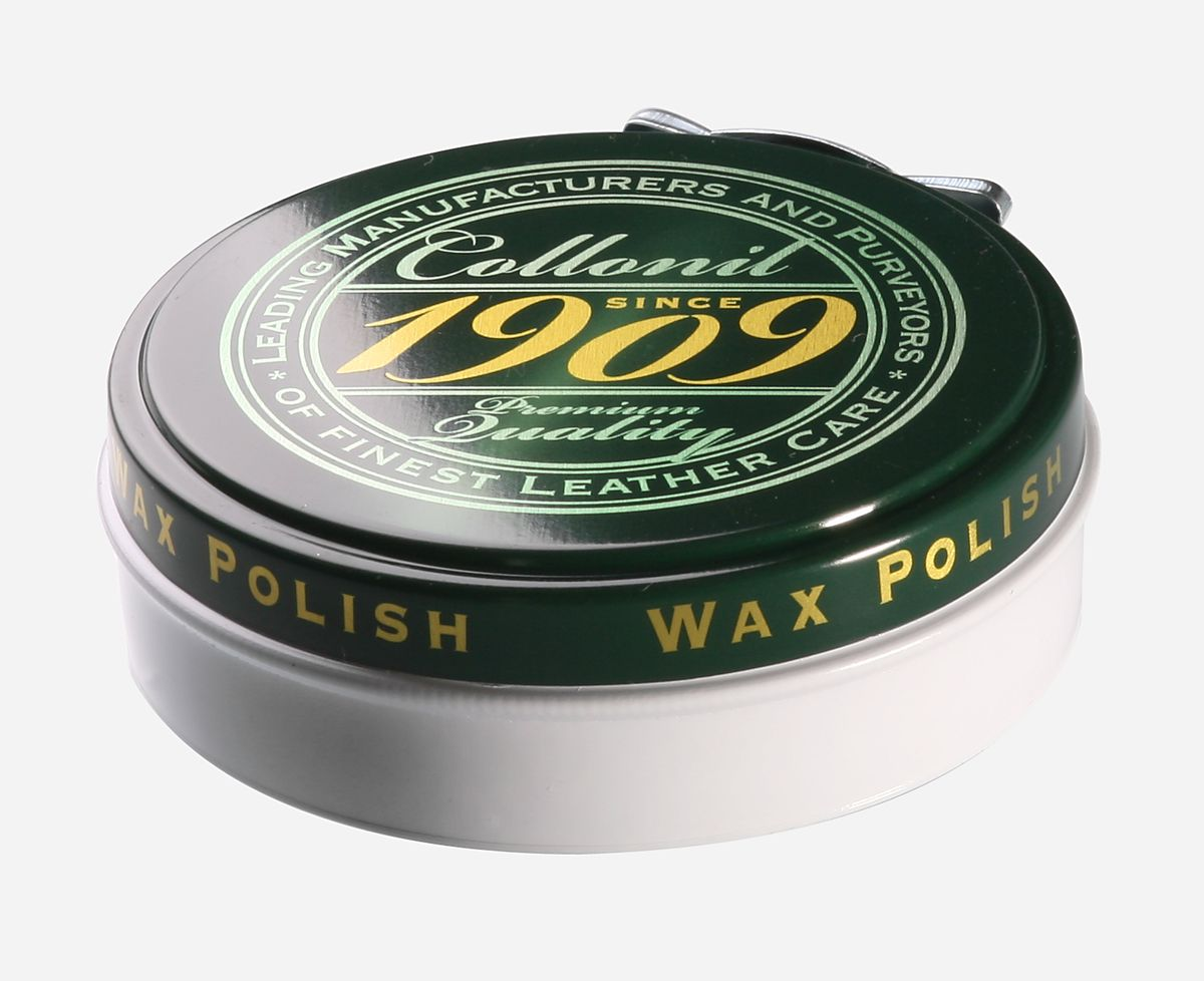 Крем для обуви Collonil 1909 Wax Polish, цвет: бесцветный, 75 мл6063 050Крем Collonil 1909 Wax Polish предназначен для гладкой кожи с зеркальным блеском, промасленного нубука, навощенной и сохраненной в натуральном виде гладкой кожи. Крем защищает и ухаживает, придает водо- и грязеотталкивающие свойства. Щадит материал и сохраняет его свойства.