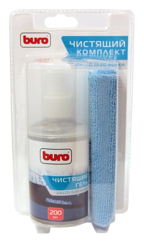 Чистящий набор для экранов ЖК мониторов Buro BU-Glcd, 200 млBU-GLCDЧистящий набор для экранов ЖК мониторов и телевизоров от пыли грязи, разводов и отпечатков. Уникальность продукта состоит в том, что гель при распылении не растекается, а остается на обрабатываемой поверхности.