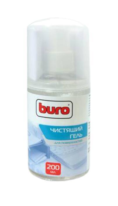 Чистящий набор для поверхностей Buro BU-Gsurface, 200 млBU-GSURFACEЭффективный чистящий комплект «BURO» состоящий из геля-очистителя помпового типа и салфетки из микроволокна (микрофибры). Предназначен для очистки пластиковых поверхностей корпусов мониторов, системных блоков, клавиатур, другого офисного оборудования, бытовой техники. Уникальность продукта состоит в том, что гель при распылении не растекается, а остается на обрабатываемой поверхности. Вы можете очистить поверхность более тщательно и безупречно. Для достижения максимального эффекта рекомендуется аккуратно убрать салфеткой, видимые загрязнения с очищаемой поверхности, а затем протереть поверхность чистой стороной салфетки.