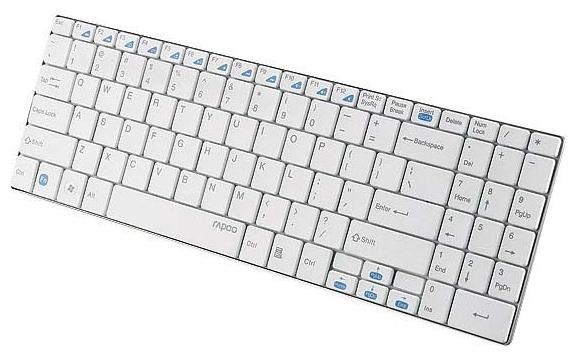 Клавиатура Rapoo E9070, White11205Сверхтонкая конструкция (5.6 мм) с использованием шлифованной нержавеющей стали. Надежное беспроводное подключение на частоте 2.4 ГГц. Срок службы батареи до 24 месяцев.