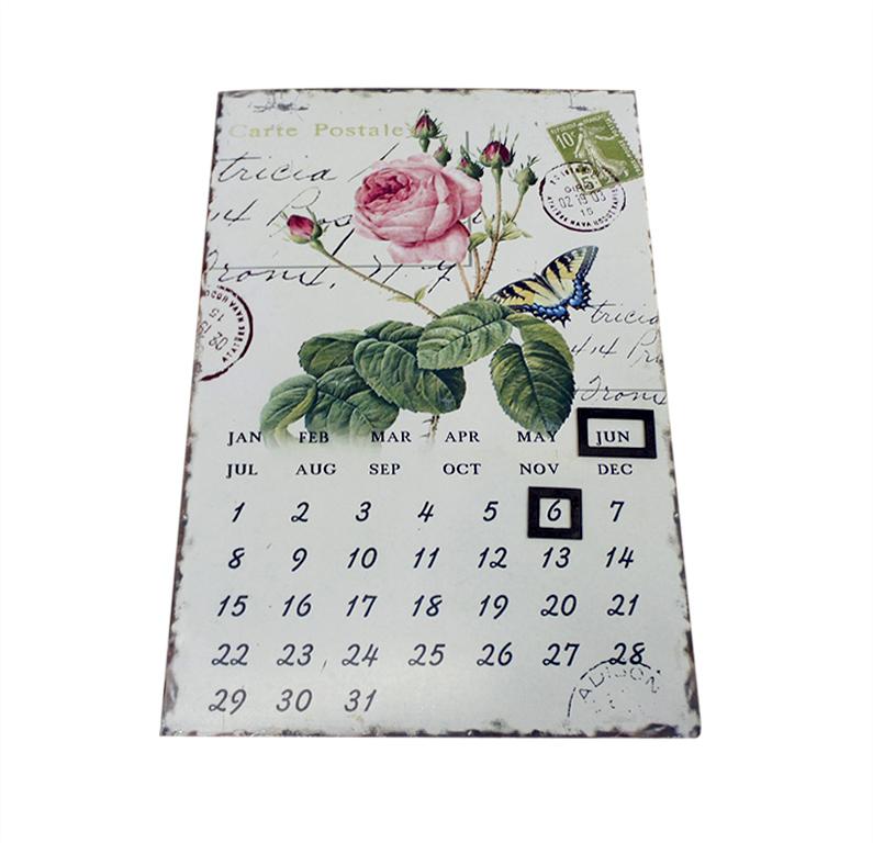 Календарь Miolla Роза, цвет: белый, 36 х 23,5 см календарь настольный miolla ретро фотокамера