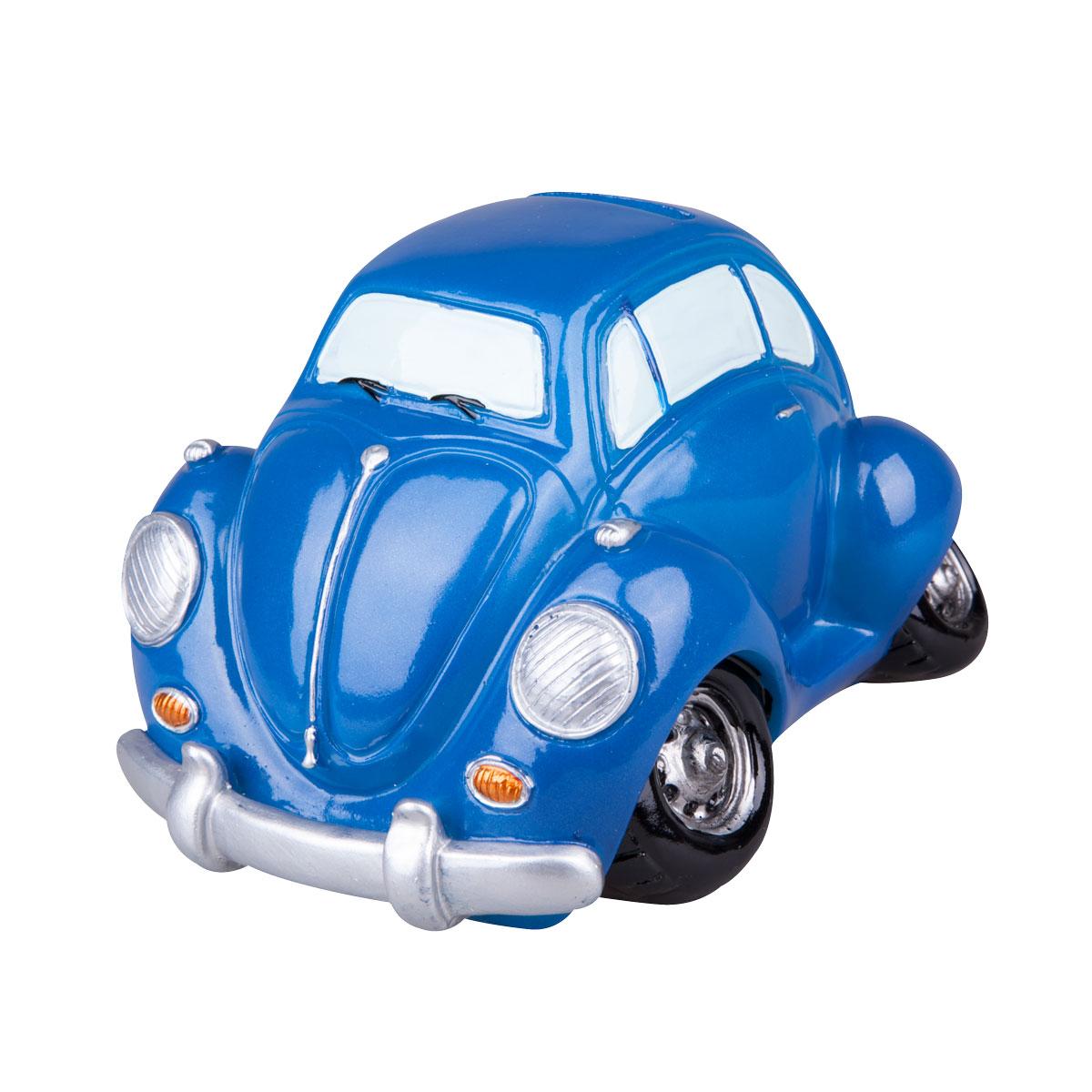 Копилка Miolla Машинка, цвет: синийRL36035Копилка Miolla Машинка, изготовленная из высококачественной полирезины, станет отличным украшением интерьера вашего дома или офиса. Изделие оснащено отверстием для монет и удобным клапаном на дне, через который можно достать деньги.Яркий оригинальный дизайн сделает такую копилку прекрасным подарком. Она послужит не только по своему прямому назначению, но и красиво дополнит интерьер комнаты.