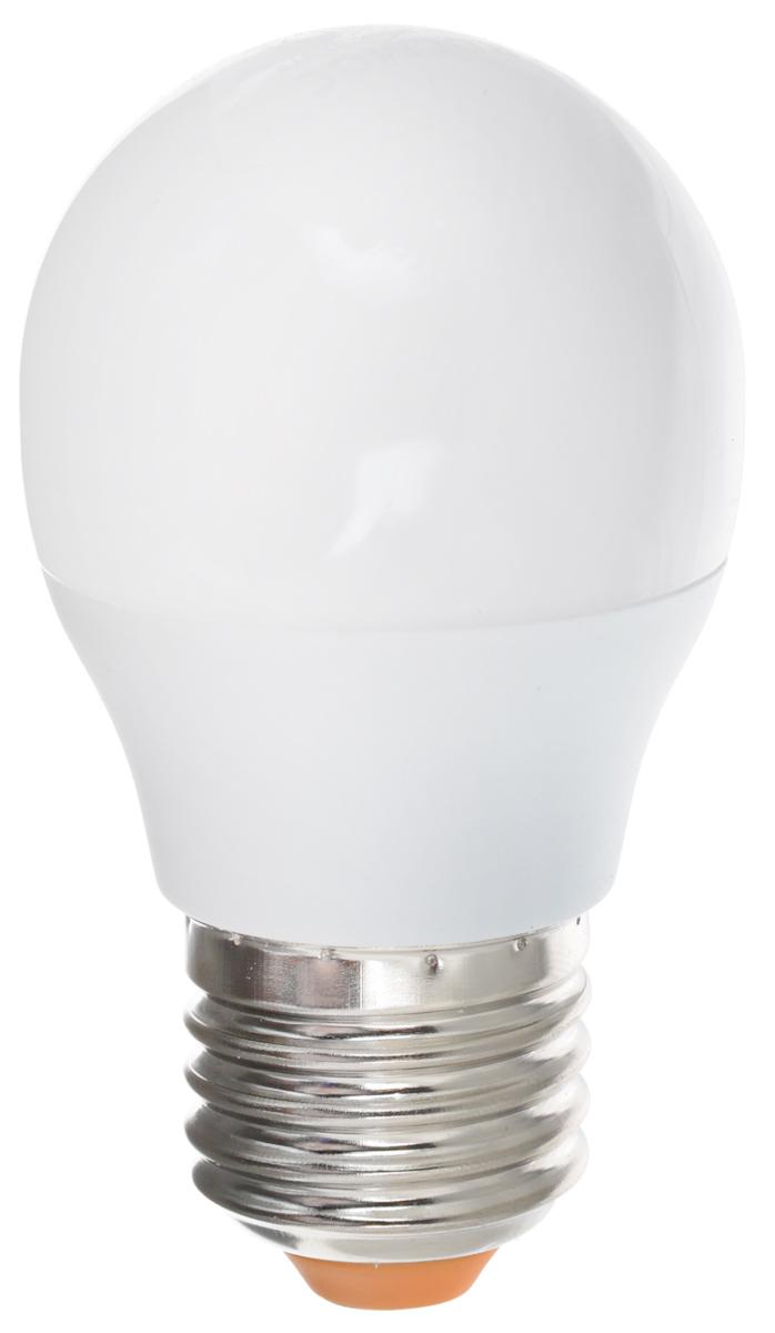 Светодиодная лампа Kosmos, теплый свет, цоколь E27, 7W, 220V. Lksm_LED7wGL45E2730Lksm_LED7wGL45E2730Светодиодная лампа Kosmos инновационный и экологичный продукт, специально разработанный для эффективной замены любых видов галогенных или обыкновенных ламп накаливания во всех типах осветительных приборов. Основные преимущества лампы Kosmos: Служит 30000 часов, что в 30 раз дольше лампы накаливания. Экономична - сберегает до 90% электроэнергии. Обладает высокой механической прочностью и вибростойкостью. Устойчива к перепадам температуры (от -40°С до +50°С).Уважаемые клиенты! Обращаем ваше внимание на возможные изменения в дизайне упаковки. Качественные характеристики товара остаются неизменными. Поставка осуществляется в зависимости от наличия на складе.