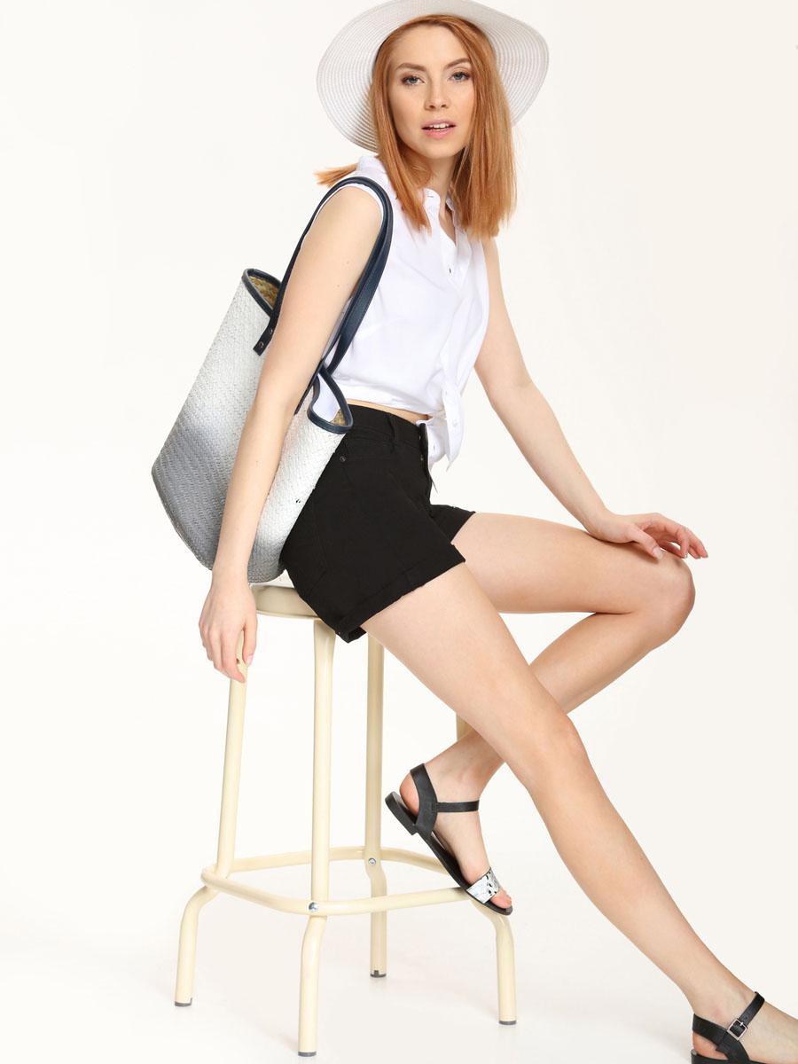 Рубашка женская Top Secret, цвет: белый. SKE0015BI. Размер 34 (40)SKE0015BIСтильная женская рубашка Top Secret, выполнена из 100% вискозы. Модель без рукавов с воротником-стойкой застегивается на пуговицы. По низу изделие имеет закругленную форму.