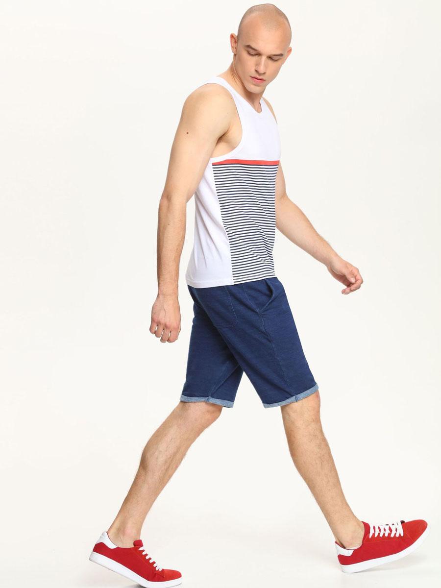 Майка мужская Top Secret, цвет: белый, темно-синий, красный. SPO2712BIS. Размер L (48) футболка мужская top secret цвет белый серый горчичный spo2881bi размер l 50