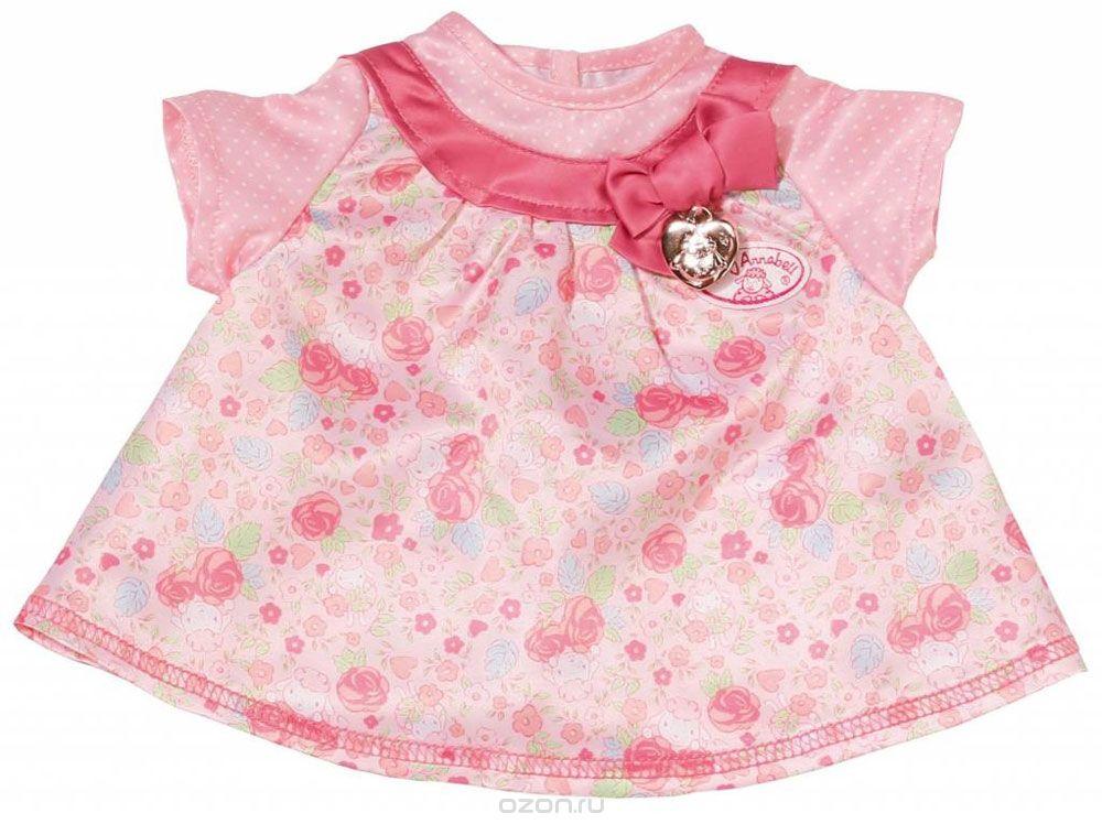 Baby Annabell Одежда для кукол Платье цвет розовый baby born платье для куклы baby annabell