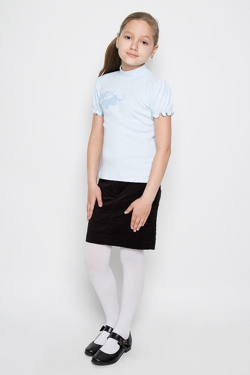 Водолазка для девочки M&D, цвет: светло-голубой. AW5561A-10. Размер 116 лосины для девочки m&d цвет бирюза мультиколор м33228 размер 116