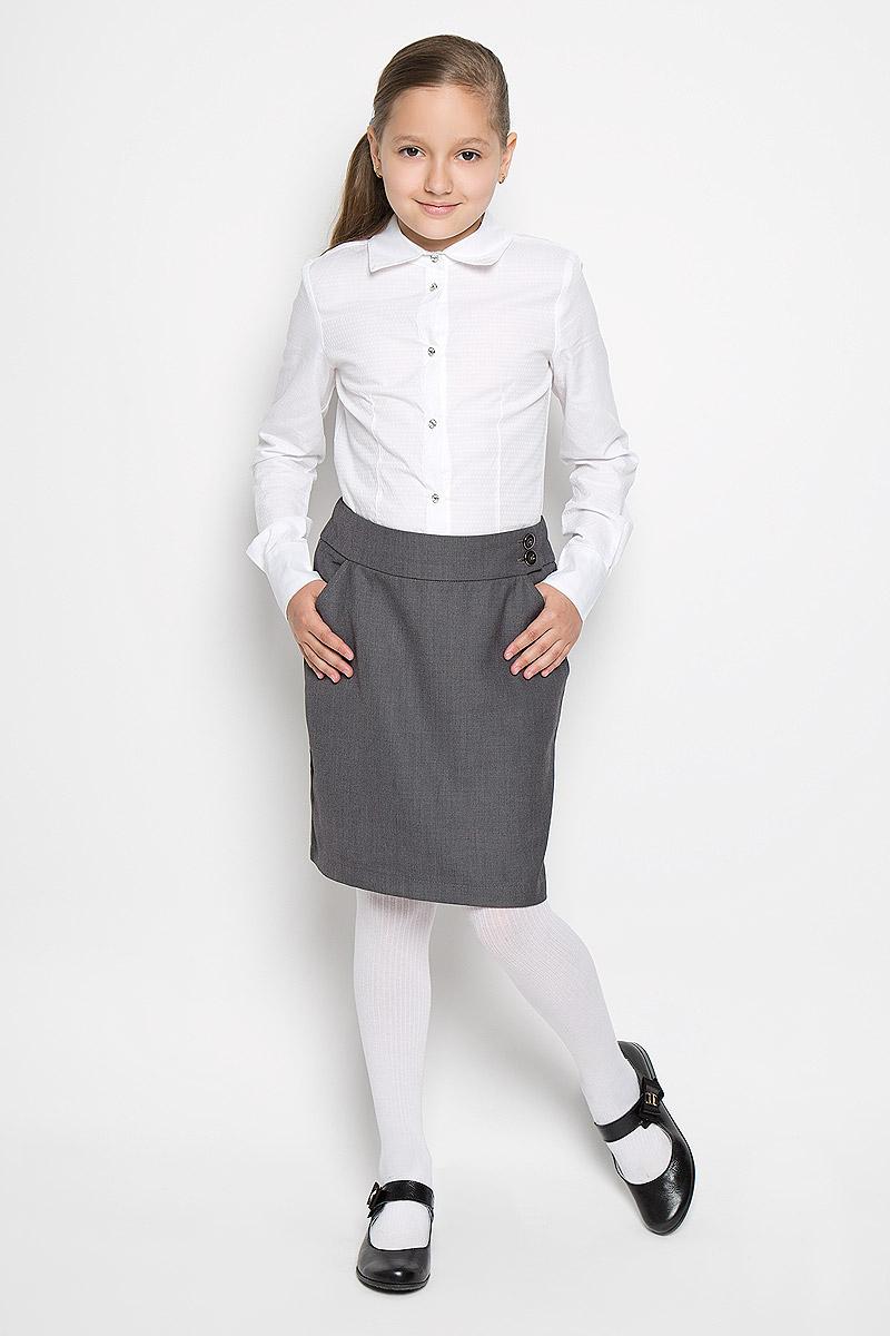 Юбка для девочки Nota Bene, цвет: серый. AW15GS136B2-20. Размер 164