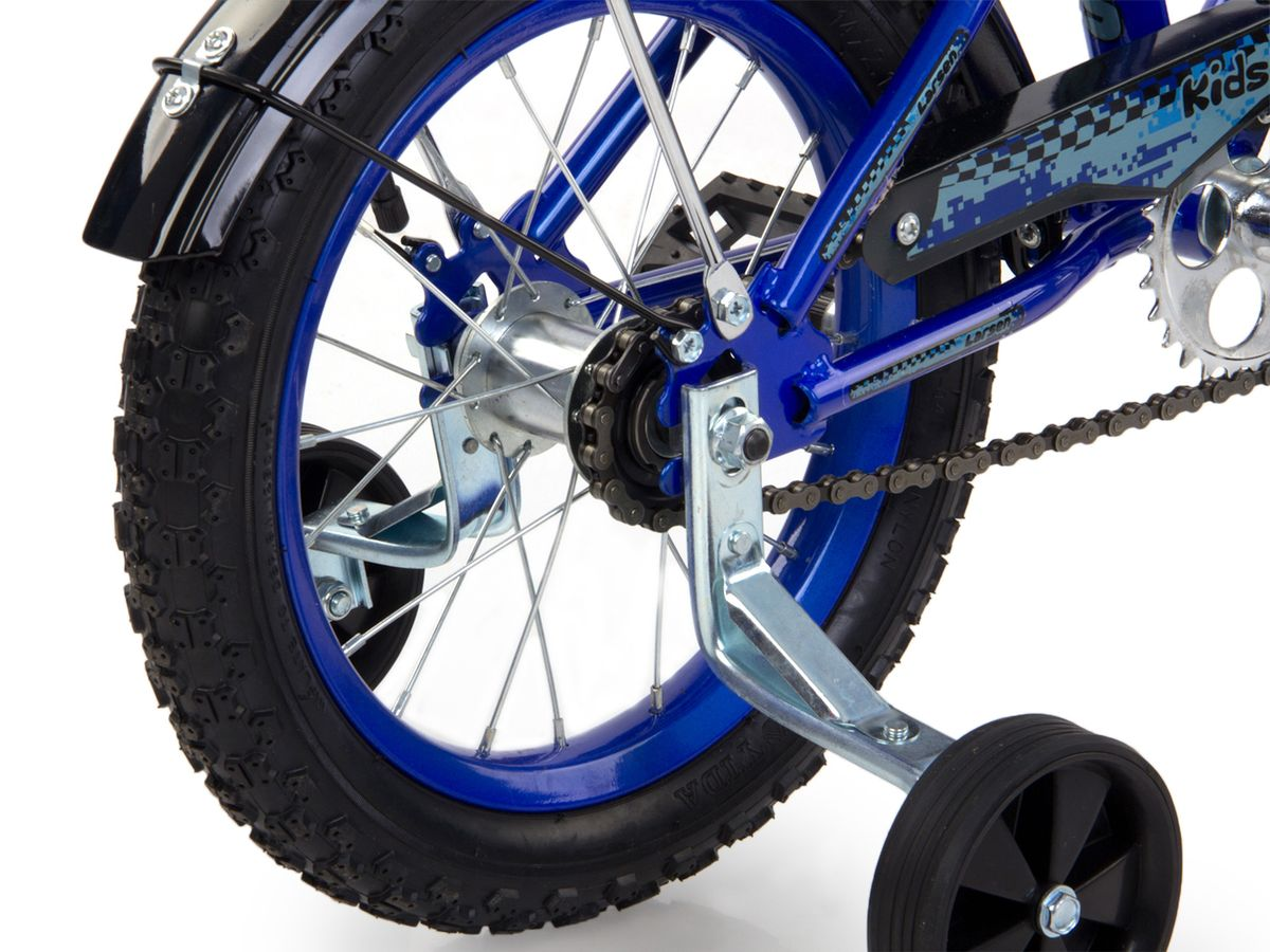 """Велосипед детский Larsen """"Kids 14"""" - велосипед для вашего ребенка. Он снабжен двумя дополнительными страховочными колесиками -   для того, чтобы ваш малыш мог легко и безопасно научиться держать равновесие, а затем и самостоятельно кататься на двухколесном   велосипеде. Когда ребенок будет уже уверенно держаться в седле, страховочные колесики можно снять, превратив велосипед в двухколесный.  Велосипед создан с учетом максимальной безопасности для малышей. Форма стальной рамы позволяет без лишних усилий забираться и сходить   с велосипеда. Цепь и вращающиеся шестеренки четырехколесного друга спрятаны в защитный короб, исключая попадание туда одежды и   малейшую возможность случайно поцарапаться. Защитные крылья спасают от грязи и не дают ребенку испачкаться даже после дождя.Велосипед имеет всего одну скорость - это для того, чтобы малыши не разгонялись очень сильно и не считали потом синяки. Вовремя   остановиться поможет удобный ножной тормоз. А если торможение получится неожиданно резкое, то для этого на руле предусмотрена   специальная мягкая накладка, чтобы максимально смягчить возможное столкновение.Характеристики:Рама: сталь. Вилка: жесткая, сталь.Количество скоростей: 1. Размер колес: 14"""". Резина: 14х2.125; BMX PATTERN. Передний переключатель: нет. Задний переключатель: нет. Обода: стальные усиленные 14"""". Тормоза: втулочные, ножные тормоза. Дополнительное оборудование: гудок, отражатели, дополнительные колеса, крылья. Какой велосипед выбрать? Статья OZON Гид"""