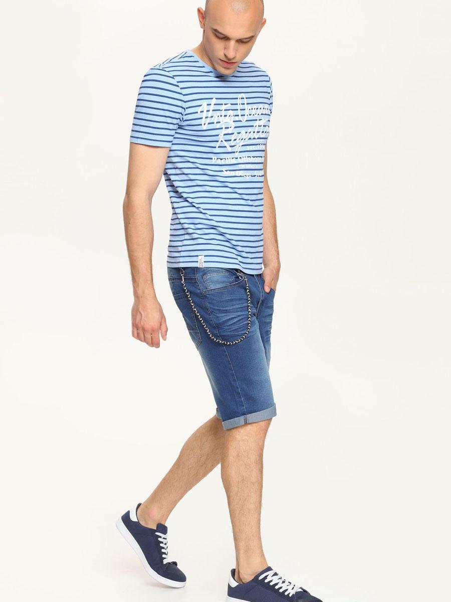 Шорты мужские Top Secret, цвет: синий джинс. SSZ0722NI. Размер 32 (48)SSZ0722NIСтильные мужские шорты Top Secret выполнены из хлопка с добавлением полиэстера и эластана. Модель из джинсовой ткани стандартной посадки на поясе застегивается на металлическую пуговицу и имеет ширинку на застежке-молнии, а также шлевки для ремня. Спереди расположены два втачных кармана и один маленький, а сзади - два накладных кармана. Оформлены шортыдекоративным шнурком на металлическом крючке и складками.