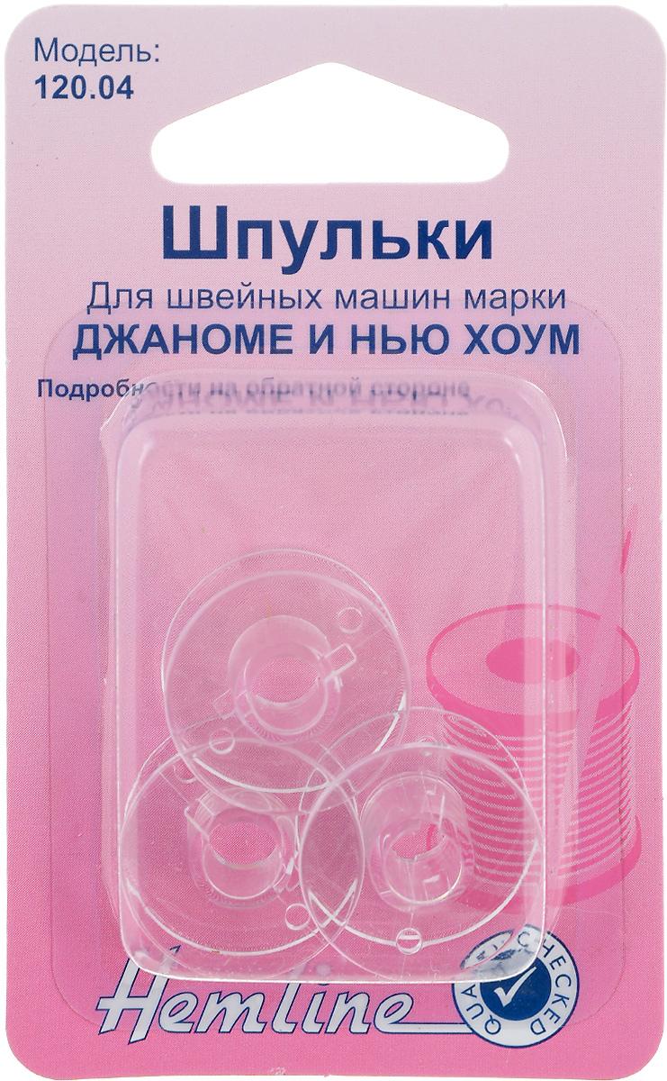 Шпульки Hemline, для швейных машин Джаноме/Нью Хоум, 3 шт120.04Шпульки Hemline подходят для швейных машинJanome/New Home, а также к швейным машинам Elna(Janome) с горизонтальной челночной системой.Изготовлены из прозрачного пластика.Пластиковые шпульки заменяют металлические шпульки,которыми снабжены машинки.Размер: 2 х 2 х 1 см.