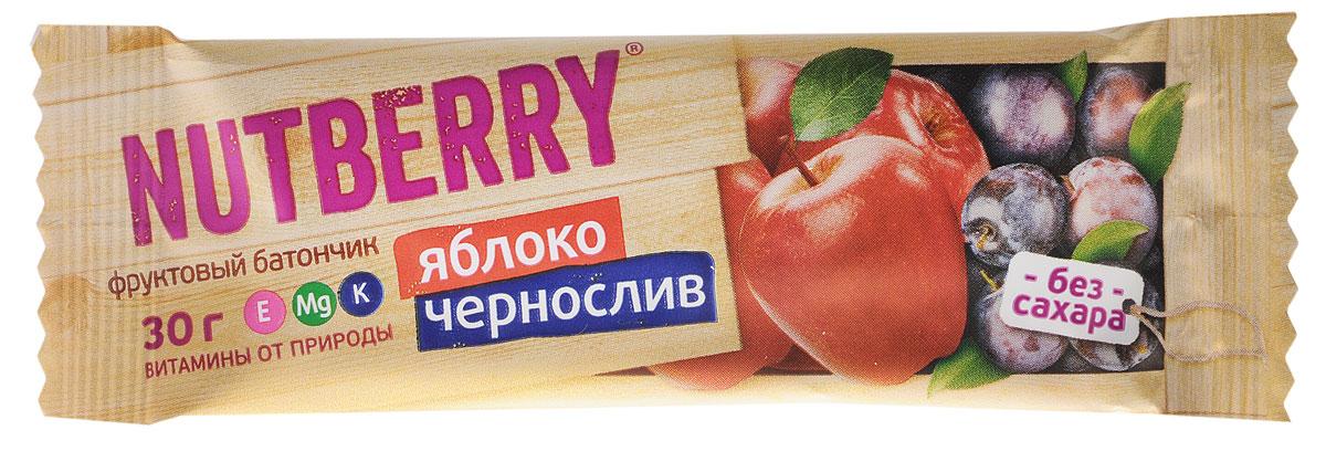 Nutberry Витафрут батончик фруктовый с яблоком и черносливом, 30 г4620000678007Фруктовый батончик Nutberry Витафрут с яблоком и черносливом - полезный и натуральный снэк. Сочетание яблока и чернослива не просто придется вам по вкусу, но еще и зарядит вас полезными витаминами, которые содержаться в сухофруктах. Сладкий вкус чернослива тонко разбавляет кислинка яблока, что делает продукт сбалансированным по сладости.Фруктовые батончики Nutberry - натурально, вкусно, с заботой о вас. Фруктовый батончик справится с голодом в два счета. Любой перекус станет вкусным и полезным. С утренним кофе, с обеденным чаем, со свежевыжатым соком фруктовый батончик Nutberry станет незаменимым составляющим вашего рациона.Фруктовые батончики Nutberry изготавливаются только из натуральных спрессованных фруктов.Батончики Nutberry содержат естественные фруктовые сахара! При производстве в продукт не добавляются фруктоза, сахар и другие сахаросодержащие продукты.Фруктовые батончики Nutberry абсолютно безопасны, не содержат ароматизаторов, красителей.Уважаемые клиенты! Обращаем ваше внимание, что полный перечень состава продукта представлен на дополнительном изображении.