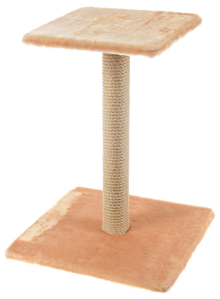 Когтеточка Меридиан Зонтик, цвет: светло-коричневый, бежевый, 40 х 40 х 50 смК506 СККогтеточка Меридиан Зонтик поможет сохранить мебель и ковры в доме от когтей вашего любимца, стремящегося удовлетворить свою естественную потребность точить когти. Когтеточка изготовлена из дерева, искусственного меха и джута. Товар продуман в мельчайших деталях и, несомненно, понравится вашей кошке. Сверху имеется полка.Всем кошкам необходимо стачивать когти. Когтеточка - один из самых необходимых аксессуаров для кошки. Для приучения к когтеточке можно натереть ее сухой валерьянкой или кошачьей мятой. Когтеточка поможет вашему любимцу стачивать когти и при этом не портить вашу мебель.Размер основания: 40 х 40 см.Высота когтеточки: 50 см.Размер полки: 31 х 31 см.