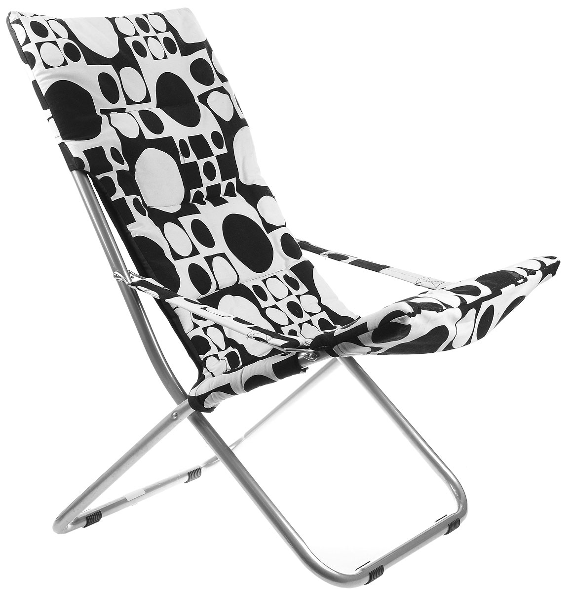 """На складном кресле """"Wildman"""" можно удобно расположиться в тени деревьев, отдохнуть в приятной прохладе летнего вечера.В использовании такое кресло достойно самых лучших похвал. Кресло выполнено из текстиля, каркас металлический. Мягкий съемный чехол с наполнителем из синтепона крепится на кресло при помощи застежек-липучек. В сложенном виде кресло удобно для хранения и переноски."""