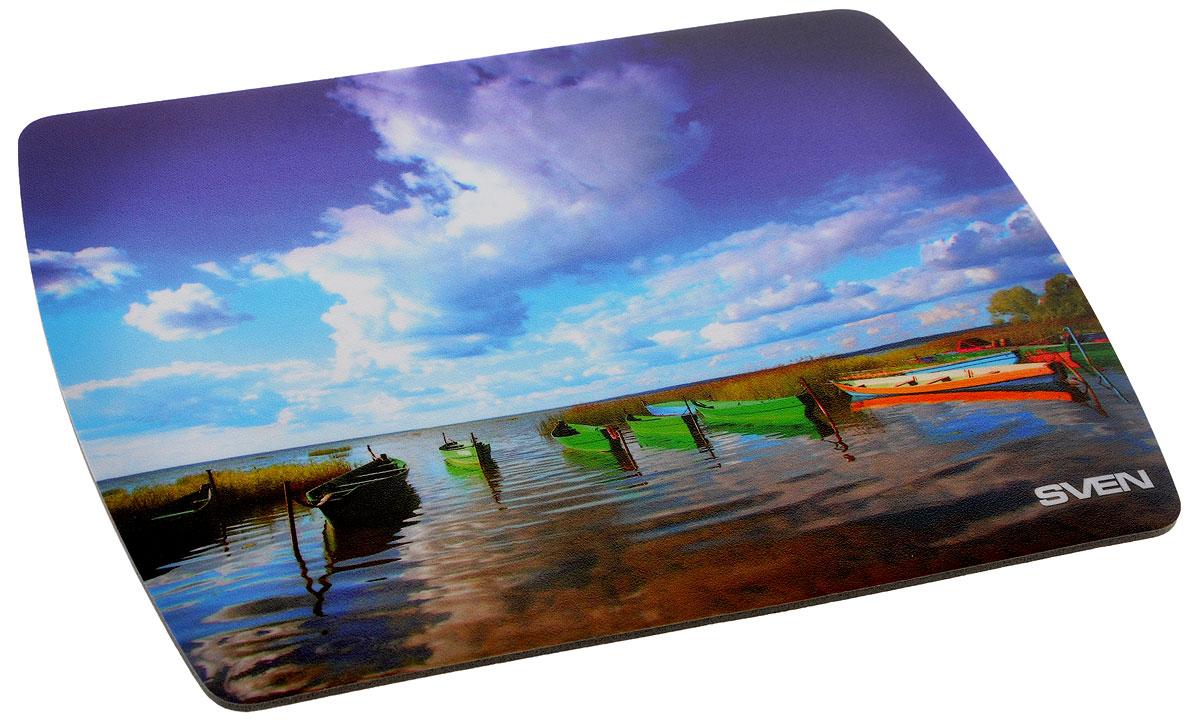 Sven UA, Blue Green Orange коврик для мышиUA-011123_лодкаКоврик для мыши Sven UA изготовлен из вспененного мягкого полипропилена, а также имеет износостойкую печать с уникальными пейзажами планеты. Данный коврик обеспечивает надежное сцепление с поверхностью стола.