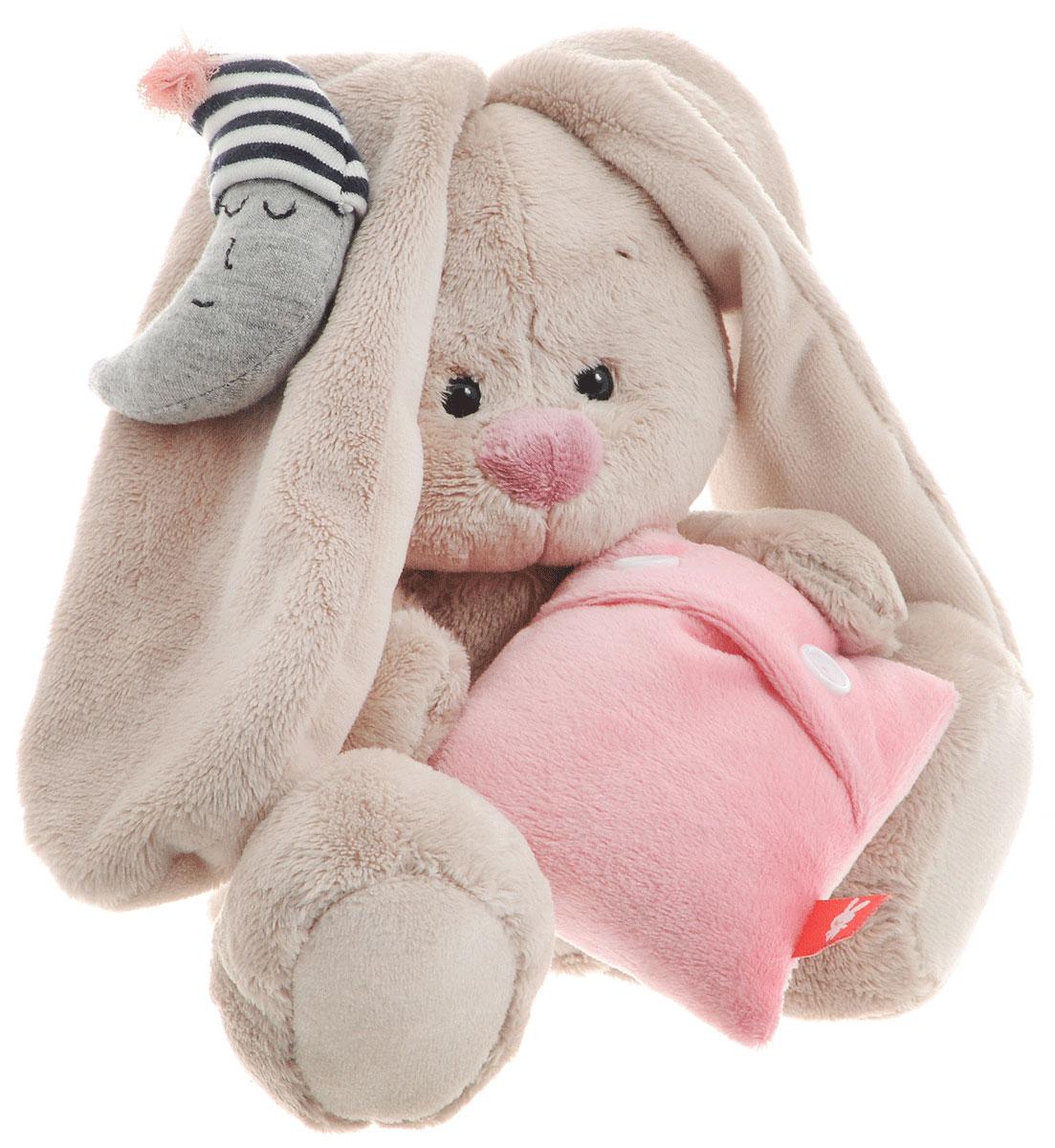 Мягкая игрушка Зайка Ми с подушкой и месяцем 15 см продажа софта