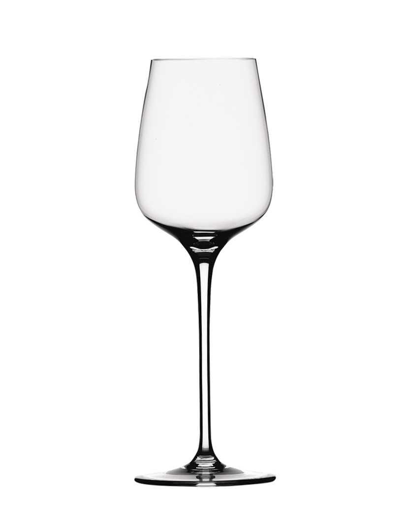 Набор бокалов для белого вина Spiegelau Виллсбергер Анниверсари, 365 мл, 4 шт1416182Набор Spiegelau Виллсбергер Анниверсари включает 4 бокала для белого вина. Бокалы выполнены из специального стекла. В этом стекле содержится платина и присутствует всего лишь 5% оксида свинца, намного меньше, чем в традиционном хрустале - и это благотворно сказывается на вкусе напитка. Бокалы изящные, тонкие, легкие и очень прочные, они выдерживают более тысячи циклов в посудомоечной машине, не боятся легких ударов и падений с небольшой высоты. Их характерный благородный блеск не подвластен времени. Благодаря превосходным характеристикам и высокому статусу ведущие рестораны мира отдают предпочтение немецкой марке Spiegelau (Шпигелау).Диаметр по верхнему краю: 7,9 см.Высота бокала: 23,8 см.