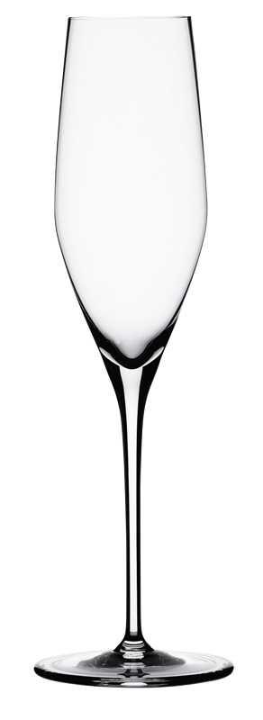"""Набор Spiegelau """"Аутентис"""" включает 4 бокала для игристого вина и шампанского. Бокалы выполнены из специального стекла. В этом стекле содержится платина и присутствует всего лишь 5% оксида свинца, намного меньше, чем в традиционном хрустале - и это благотворно сказывается на вкусе напитка. Бокалы изящные, тонкие, легкие и очень прочные, они выдерживают более тысячи циклов в посудомоечной машине, не боятся легких ударов и падений с небольшой высоты. Их характерный благородный блеск не подвластен времени. Благодаря превосходным характеристикам и высокому статусу ведущие рестораны мира отдают предпочтение немецкой марке Spiegelau (Шпигелау).  Диаметр по верхнему краю: 5,5 см.  Высота бокала: 22,5 см."""