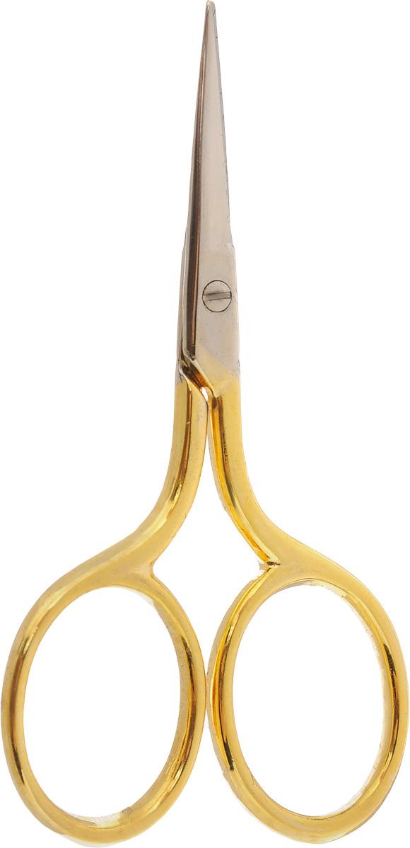 Ножницы для вышивания Hemline, длина 7 смB5422Ножницы для вышивания Hemline выполнены из высококачественной нержавеющей стали с позолоченным покрытием. Вышивальщице обязательно нужны ножницы, причем не одни. Ножницы должны быть маленькие и с острыми кончиками. Аккуратные и элегантные ножницы предназначены для вышивания и рукоделия, идеально подходят для обрезания нитей.Длина ножниц: 7 см.Длина лезвий: 2 см.