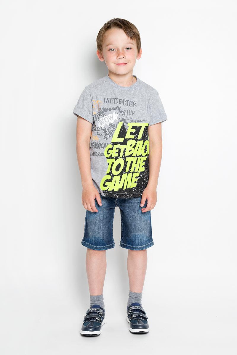 Футболка для мальчика Silver Spoon Casual, цвет: серый меланж. SCFSB-628-14609-808 мод.M5-001. Размер 164