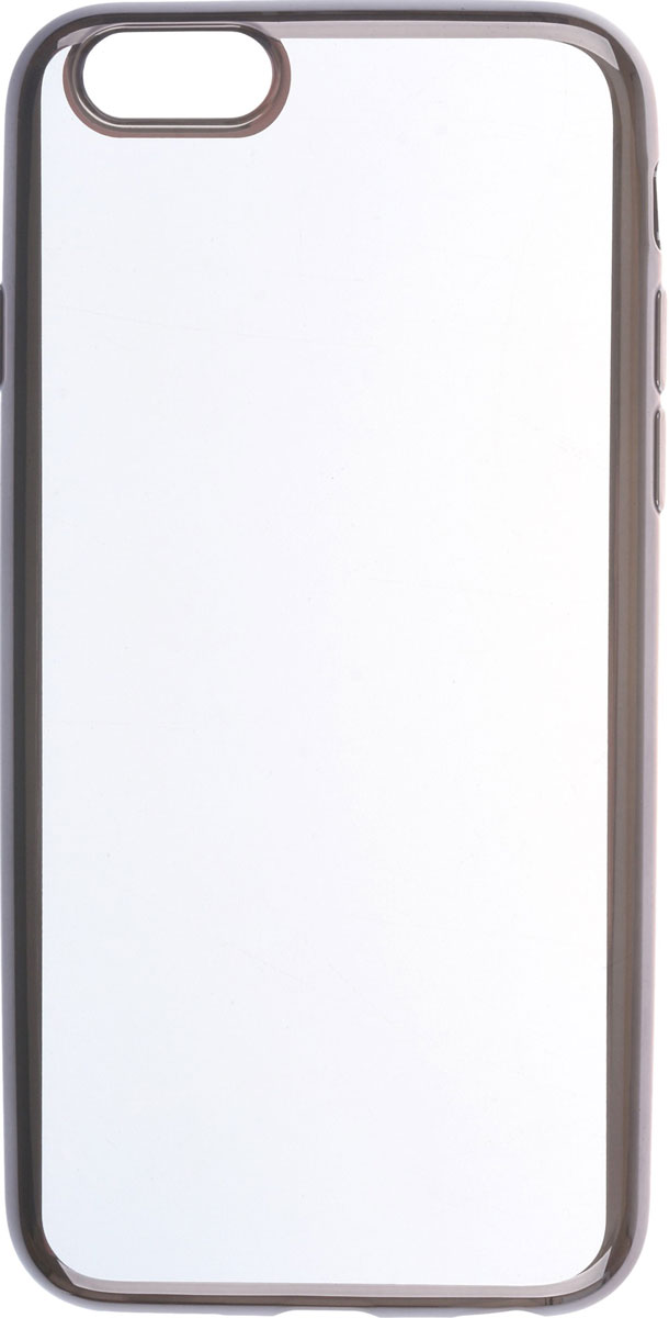 Skinbox 4People Silicone Chrome Border чехол для Apple iPhone 6/6s, Black skinbox silicone chrome border 4people чехол для samsung galaxy a5 2016 dark silver