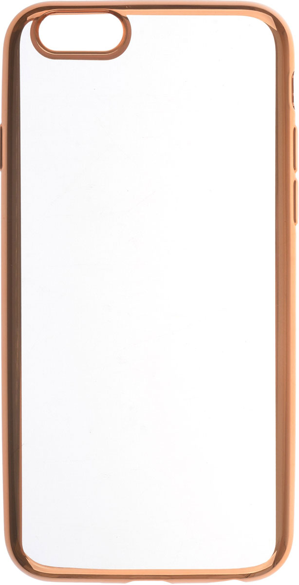 Skinbox 4People Silicone Chrome Border чехол для Apple iPhone 6/6s, Gold