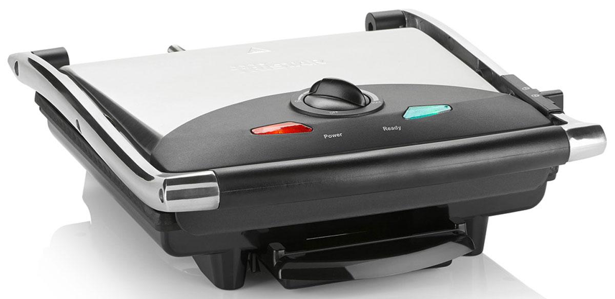 Tristar GR-2848, Black Gray электрогрильGR-2848Электрогриль Tristar GR-2848 - это прекрасное решение для тех, кто заботится о том, чтобы употребляемые в пищу продукты были приготовлены качественно и вкусно, а готовое блюдо было вкусным и полезным. На гриле Tristar GR-2848 вы сможете готовить гораздо быстрее, чем на плите или в духовом шкафу, благодаря двустороннему нагреву. Мощность в 2000 Ватт дает возможность грилю нагреться до заданной температуры в максимально короткий срок.Антипригарное покрытие - это легкость готовки и аппетитный вид подрумяненных на гриле овощей, мяса и других продуктов. С электрогрилем Tristar GR-2848 вы просто забудете, как выглядит подгоревшая пища, а главное - никакого масла.Крышка из нержавеющей сталиПлавающая крышка гриляАнтипригарное покрытиеПрорезиненные, нескользящие ножки