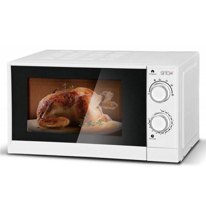 Sinbo SMO 3651 СВЧ-печьSMO 3651Микроволновая печь Sinbo SMO 3651 предназначена для быстрого приготовления или быстрого подогрева пищи, а также для размораживания продуктов. Sinbo SMO 3651 с шестью уровнями мощности микроволн и таймером на 30 минут проста в использовании, оснащена режимом разогрева блюд, режимом разморозки и звуковым сигналом об окончании приготовления. Управление механическое, осуществляется при помощи удобных поворотных регуляторов. Компактная микроволновая печь со стильным дизайном отличается высоким качеством сборки, прочностью и надежностью, станет неизменным атрибутом на вашей кухни.