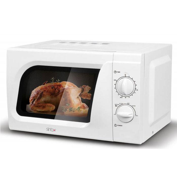Sinbo SMO 3652 СВЧ-печьSMO 3652Микроволновая печь Sinbo SMO 3652 предназначена для быстрого приготовления или быстрого подогрева пищи, а также для размораживания продуктов. Sinbo SMO 3652 с шестью уровнями мощности микроволн и таймером на 30 минут проста в использовании, оснащена режимом разогрева блюд, режимом разморозки и звуковым сигналом об окончании приготовления. Управление механическое, осуществляется при помощи удобных поворотных регуляторов. Компактная микроволновая печь со стильным дизайном отличается высоким качеством сборки, прочностью и надежностью, станет неизменным атрибутом на вашей кухни.