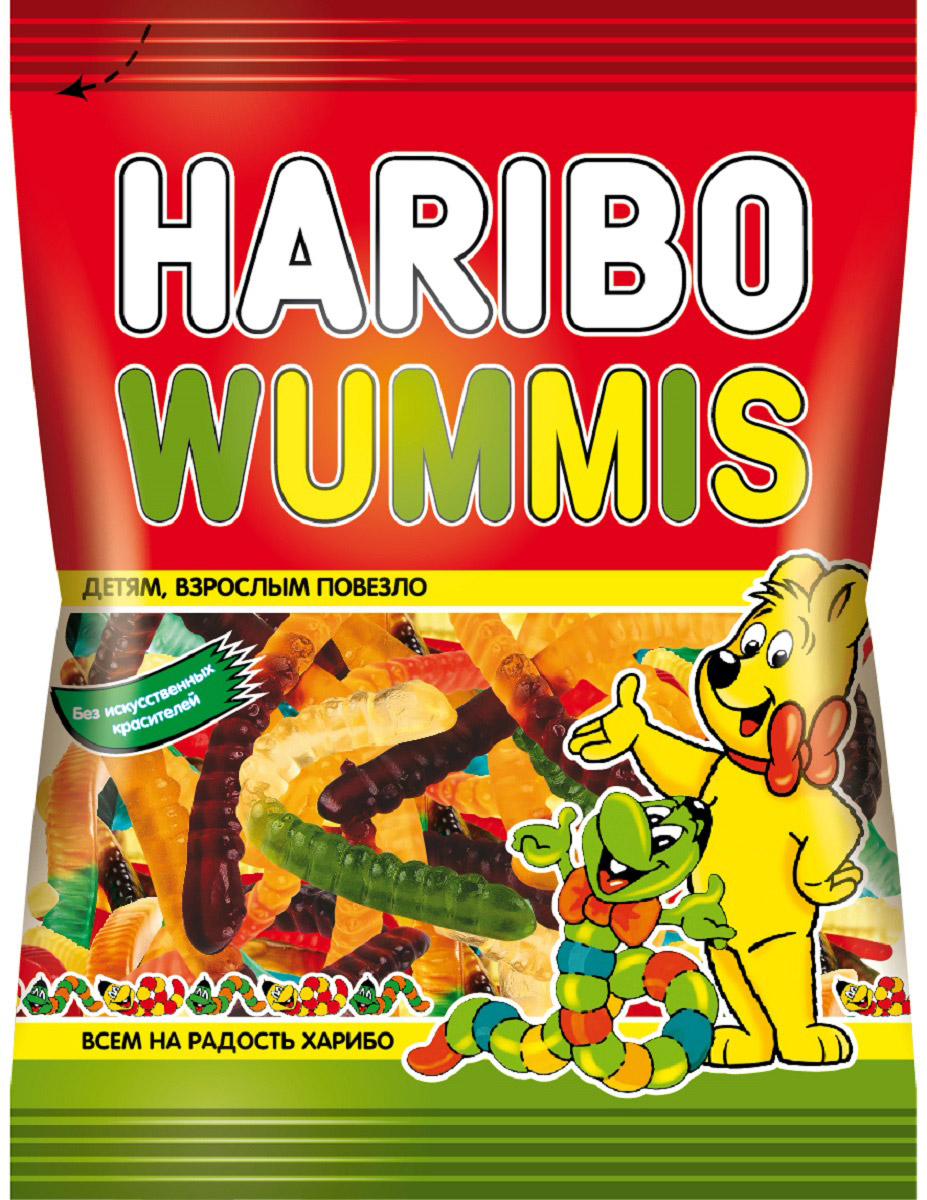 Haribo Червячки Вуммис жевательный мармелад, 70 г семена рудбекия мармелад 300шт