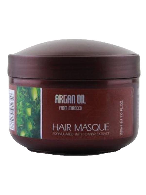 Morocco Argan Oil Питательная и увлажняющая маска для волос с маслом арганы и икрой, 200мл115685Маска для глубокого питания и увлажнения волос предназначена для профессионального ухода за волосами в домашних условиях. Маска наполняет волосы жизненной силой и энергией, увлажняет волосы, позволяя улучшить их структуру.Такая маска станет отличным подспорьем в уходе за волосами, ведь благодаря ей можно добиться по-настоящему крепких и сильных волос, остановить выпадение, улучшить рост и качество локонов. Ценные ингредиенты в составе маски великолепно усваиваются самыми глубокими структурами волоса и восстанавливают его по всей длине.